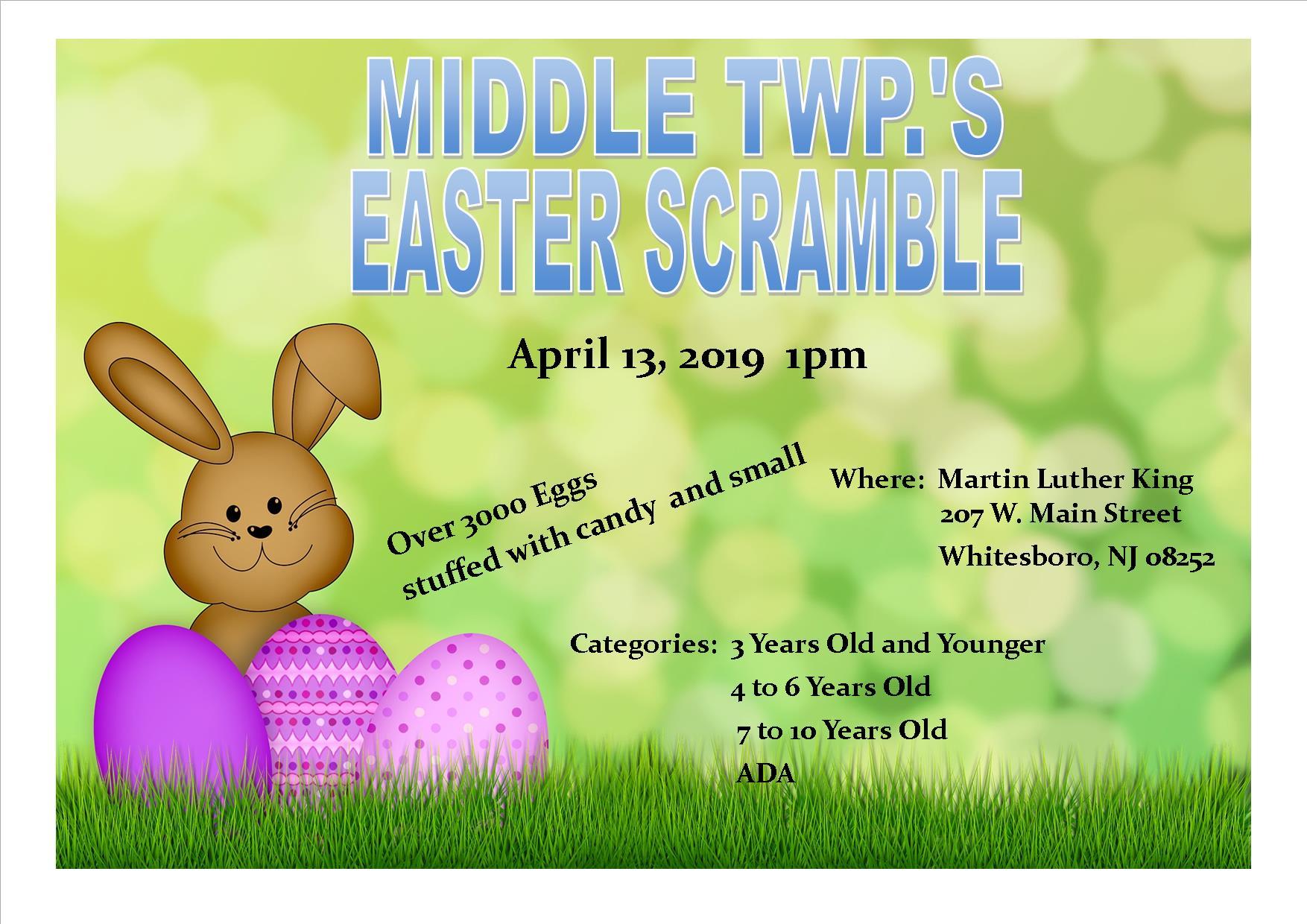023b93a9e2 Middle Township Easter Scramble Saturday April 13th
