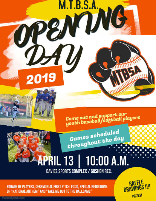 e644a5e5d8 Middle Township Baseball Softball Association Opening Day – Saturday April  13th